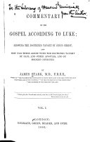 Commentary on the Gospel According to Luke