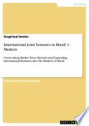International Joint Ventures in Brazil's Markets