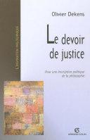 Le devoir de justice [Pdf/ePub] eBook