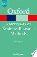 A Dictionary Of Business Research Methods Book