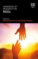 Handbook of Research on NGOs