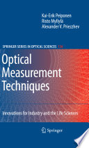 Optical Measurement Techniques Book PDF