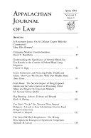 Appalachian Journal of Law