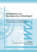 Rehabilitation and Reconstruction of Buildings II