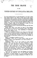 The Irish Branch of the United Church of England and Ireland