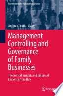Management Controlling and Governance of Family Businesses Book