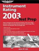 Instrument Rating Test Prep 2003