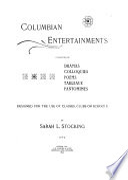 Columbian Entertainments Book