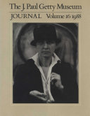 Pdf The J. Paul Getty Museum Journal Telecharger