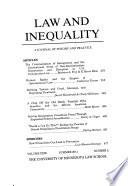 Law & Inequality