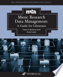 Music Research Data Management