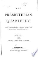 The Presbyterian Quarterly