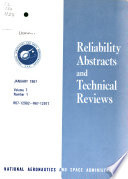Reliability Abstracts and Technical Reviews Book