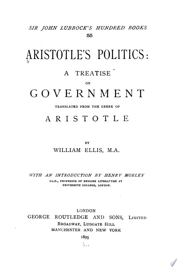 Aristotle s Politics