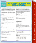 Algebraic Equations And Answers  Speedy Study Guides