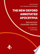 The New Oxford Annotated Apocrypha