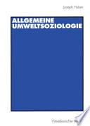 Allgemeine UmweltSoziologie