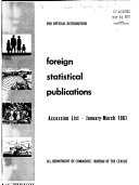 Foreign Statistical Publications Accessions List