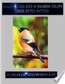 Download Beautiful Red Bird In Rainbow Colors Cross Stitch Pattern Pdf