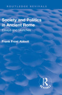 Revival  Society and Politics in Ancient Rome  1912