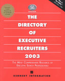 The Directory of Executive Recruiters 2003
