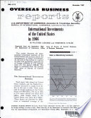 International Investments of the United States in 1966