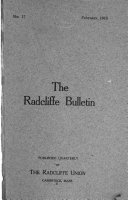 The Radcliffe Bulletin