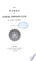 The Works Of Samuel Johnson Ll D Lives Of The Poets