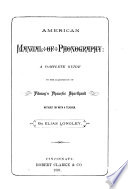American Manual Of Phonography A Complete Guide To The Acquisition Of Pitman S Phonetic Shorthand  Book PDF