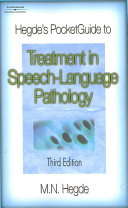 Hegde S Pocketguide To Treatment In Speech Language Pathology Book