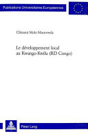 Le développement local au Kwango-Kwilu (RD Congo)