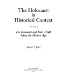 The Holocaust in Historical Context