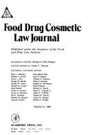 Food  Drug  Cosmetic Law Journal