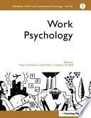 Handbook of Work and Organizational Psychology: Work psychology