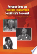 Perspectives On Thought Leadership For Africa S Renewal