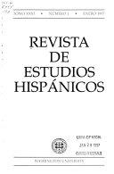 Pdf Revista de estudios hispánicos