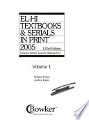 El-Hi Textbooks & Serials in Print, 2005  : Including Related Teaching Materials K-12