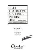 El-Hi Textbooks & Serials in Print, 2005