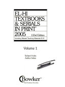 El Hi Textbooks Serials In Print 2005 Book