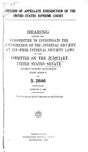 Limitation of Appellate Jurisdiction of the United States Supreme Court