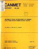 CANMET Report