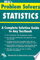 the statistics problem solver max fogiel research and education   the statistics problem solver