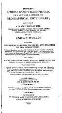 Brookes's General Gazetteer Improved