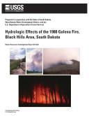 Hydrologic Effects of the 1988 Galena Fire,Black Hills Area, South Dakota Pdf/ePub eBook