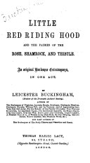 Little Red Riding Hood and the Fairies of the Rose  Shamrock  and Thistle Book
