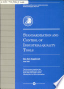 Standardization and Control of Industrial quality Tools