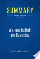 Summary Warren Buffett On Business