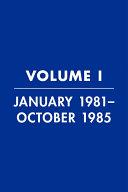 Reagan Diaries Volume 1