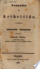 Nonnulla de arthritide