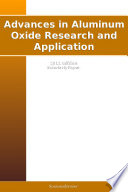 Advances In Aluminum Oxide Research And Application 2011 Edition Book PDF